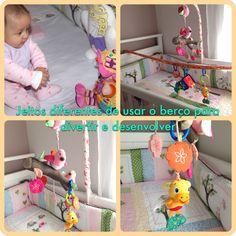 Atividade para desenvolver o uso do braço e da mão - para bebês de 0 a 6 meses.