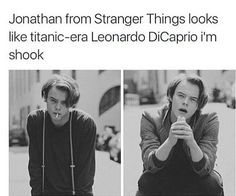 Film Manga, Film Anime, Stranger Things Have Happened, Stranger Things Funny, Movies Showing, Movies And Tv Shows, Leonardo Dicaprio, Charlie Heaton, Prince Charmant