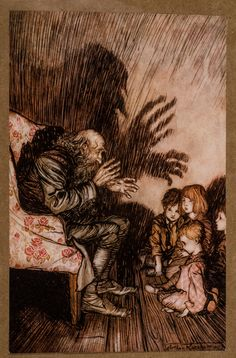 Arthur Rackham. Rip van Winkle.