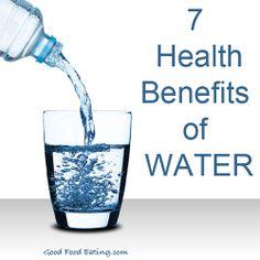 7 health benefits of water