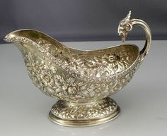 Tiffany repousse sauce boat