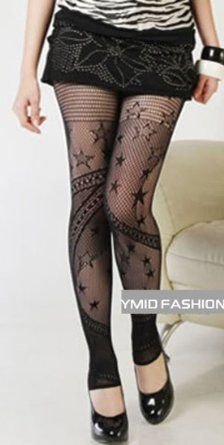 Amazon.com: Ymid Select Women's Punk Lace Starry Footless Leggings Tights: Clothing