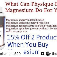 @rachelsimone320 speaks the truth  #Repost @rachelsimone320 with @repostapp  #Repost @thejimmysmith with @repostapp  @thephysiqueformula just released our magnesium glycinate so I want to answer some questions. Link is in my bio and you get 15% when you use code MAG15 Why do I use magnesium glycinate?  Unlike other magnesium variations like oxide taurate citrate or any other variations glycinate did chelated (bonded) with the amino acid glycine so it easily passes through your intestinal…