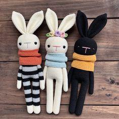 Crochet Bunny Pattern, Crochet Animal Patterns, Stuffed Animal Patterns, Crochet Patterns Amigurumi, Crochet Animals, Crochet Dolls, Knitting Patterns, Doily Patterns, Knitted Dolls