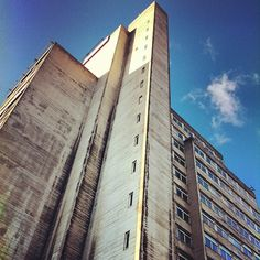 Manchester University brutalist architecture  Photo by conormcnicholas