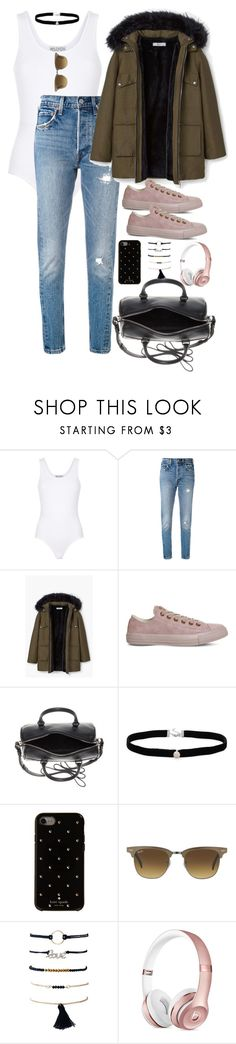 """Untitled #2396"" by thisishowwedress on Polyvore featuring Wildfox, Levi's, MANGO, Converse, Yves Saint Laurent, Amanda Rose Collection, Kate Spade and Ray-Ban"