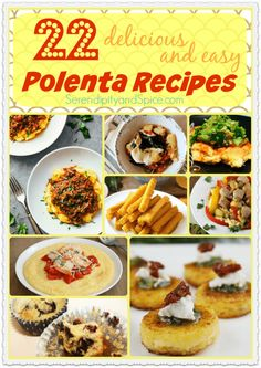 Have you ever tried polenta?  It's such a versatile food that's delicious in many forms...check out these 22 delicious and easy polenta recipes.