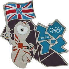 OLYMPIC PINS 2012 ENGLAND UNION JACK U.K LONDON FLAG DRAGON GUITAR SILVER