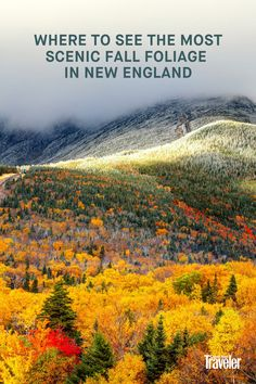 New England Fall Foliage, Us Destinations, Road Trips, Beautiful Images, Bliss, Chill, Places To Go, Boarding Pass, Hiking