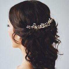 Gypsophila Pearls Hair Pins Sticks Wedding Bride Prom Bridesmaids Gift Hot Sell