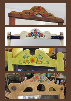 Various Monterey Painted Mirror Tops.