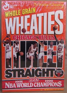 971b77394d6 Image detail for -Chicago Bulls Wheaties Full Cereal Box NBA World Champs