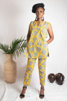 African Shirt Dress, African Shirts, African Wear, African Attire, African Tops For Women, African Clothing For Men, Printed Trousers, Printed Skirts, African Inspired Fashion