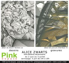 Alice Zwarts au Pink Espace