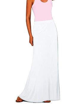 White Maxi Skirt by SarahLMeyers on Etsy, $45.00