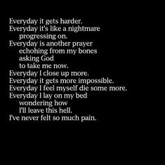 Discover and share Depressing Death Quotes. Explore our collection of motivational and famous quotes by authors you know and love. Depression Quotes, Death Quotes, Sad Quotes, Life Quotes, Inspirational Quotes, Poetry Quotes, Motivational, Mental Health Facts