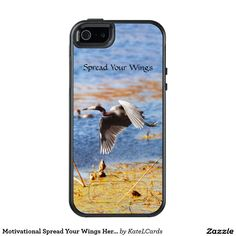 Motivational Spread Your Wings Heron Custom OtterBox iPhone 5/5s/SE Case