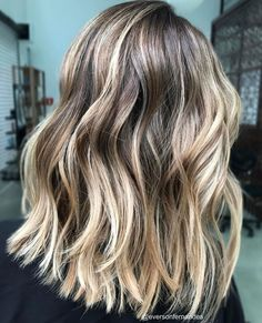 50 Ideas for Light Brown Hair with Highlights and Lowlights Cool-Toned Bronde Lob with Blonde Highlights Brown Hair With Highlights And Lowlights, Brown Hair Balayage, Brown Blonde Hair, Blonde Streaks, Color Highlights, Chunky Highlights, Highlight And Lowlights, Ombre Hair, Caramel Highlights