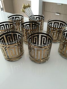 Vintage glasses for Hamptons project. Kwinter & Co.