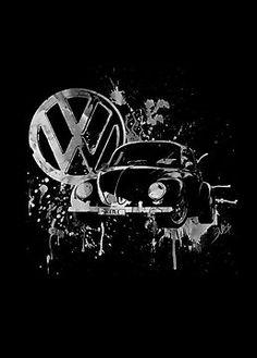 Volkswagen Beetle -  Splash (B&W) by blulime (tattoo idea)