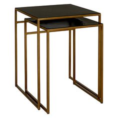 Buy Content by Terence Conran Accents Square Nest of Tables, Black Online at johnlewis.com