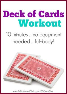 Want to add some variety to your fitness routine? Give this fun, no equipment needed, full body workout challenge a try! All you need is a deck of cards to get you moving and feel the burn!