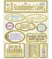 "Signature Dimensional Stickers 4.5""X6"" Sheet-Grandma"