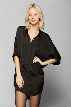 black silk blouses over everything
