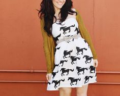 hand stamped DIY pony print dress via a beautiful mess