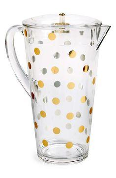 Gold dot pitcher #katespade