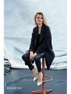 Georgia May Jagger voor Reserved a/w 2014 - Balmain maakt modestatement