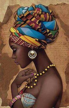 African Art Decor Cross Stitch Pattern - African Art Print - African Decor - Black Women - Embroidery - African Wall Art - PDF File - My Pin Black Girl Art, Black Women Art, Art Girl, Art Women, African Wall Art, African Art Paintings, African Artwork, African Drawings, African American Artwork