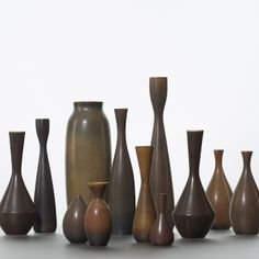 131: Carl-Harry Stalhane / collection of twelve vases < Scandinavian Design, 8 May 2014 < Auctions   Wright