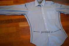 How to take in a dress shirt. Good tutorial, good pictures.