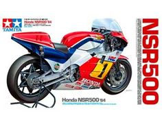 Tamiya 1:12 Honda NSR500 Plastic Model Motorcycle Kit TAM14121 Honda NSR500 (1984) Plastic Model Motorcycle Kit. This model kit made by Tamiya requires assembly and is 1:12 scale (approx. 17cm / 6.7in long).  Despite having taken the 1983 500cc Road Racing World Championship Grand Prix Riders' Championship (their first since 1967) on the 2-stroke V3 engine NS500, Honda were not satisfied with their motor and felt that more power would be required. Thus, the Japanese motorcycle giant came…