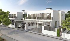 Viviendas unifamiliares en El Plantío (Madrid). Cliente: MS Construcciones. Render por Icaras. 2014