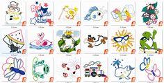 78 verschieden application Embroidery Design, pes  Instant download von CreaInvento auf Etsy