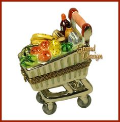 Limoges - Shopping Cart filled with  Groceries
