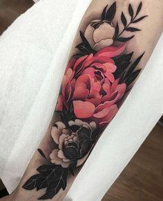 50 Sleeve Tattoos for Women - Flower Tattoos - Tattoo Designs For Women Tropisches Tattoo, Cover Tattoo, Best Sleeve Tattoos, Sleeve Tattoos For Women, Flower Sleeve Tattoos, Colorful Sleeve Tattoos, Tattoo Sleeves, Forearm Tattoos For Women, Cover Up Tattoos For Women