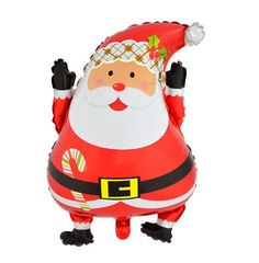 63cmx46cm New Christmas holiday Santa Claus cartoon style foil balloons decorated New Year Wholesale Christmas decorations
