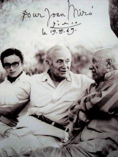 Touchante photo de Miró et Picasso - à gauche, David Fernandez, le petit-fils de Miró.