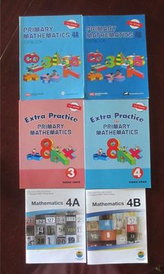 Singapore Math 3 4 4A 4B Textbooks Extra Practice My Father's World 6 Book Set #Textbook