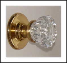 Dummy Knob / Single Surface Mount French Door Knob. Perfect Replica of the 12 Point Depression Crystal Knobs In Your choice of finish. by RoussoDesigns on ETSY and on the WEB.