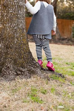 roly poly tunic + fancy pants leggings by rachel stitched together, via Flickr