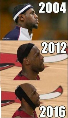 Lebron and that hair line--let it go, man, just let it go!!