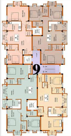 Residential Building Plan, Building Plans, Hotel Floor Plan, House Floor Plans, Classic House Exterior, Indian House Plans, Architectural Floor Plans, Plans Architecture, Apartment Floor Plans