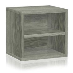 Way Basics zBoard Eco Stackable Connect Cube Storage with Shelf, Grey at Lowe's. Meet the cube, Way Basics best-selling modular storage series that just got an upgrade through the Connect Series. Featuring a shelf inside the cube Cheap Shelves, Cube Storage Shelves, Modular Storage, Shop Storage, Display Shelves, Storage Cubes, Shelf Makeover, Cube Organizer, Organizing Your Home