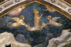 Giotto, di Bondone (1266-1337) Scenes from the Life of Mary Magdalene: Mary Magdalene Speaking to the Angels