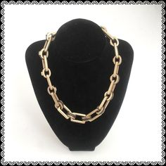 Ralph Lauren Chain Necklace Needing a new home. Show some wear when you look closer. Round chain has brown leather braid. Heavy and beautiful drop on the neck. Ralph Lauren Jewelry Necklaces