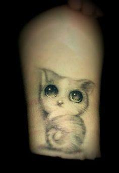 Very cute #cat #tattoo
